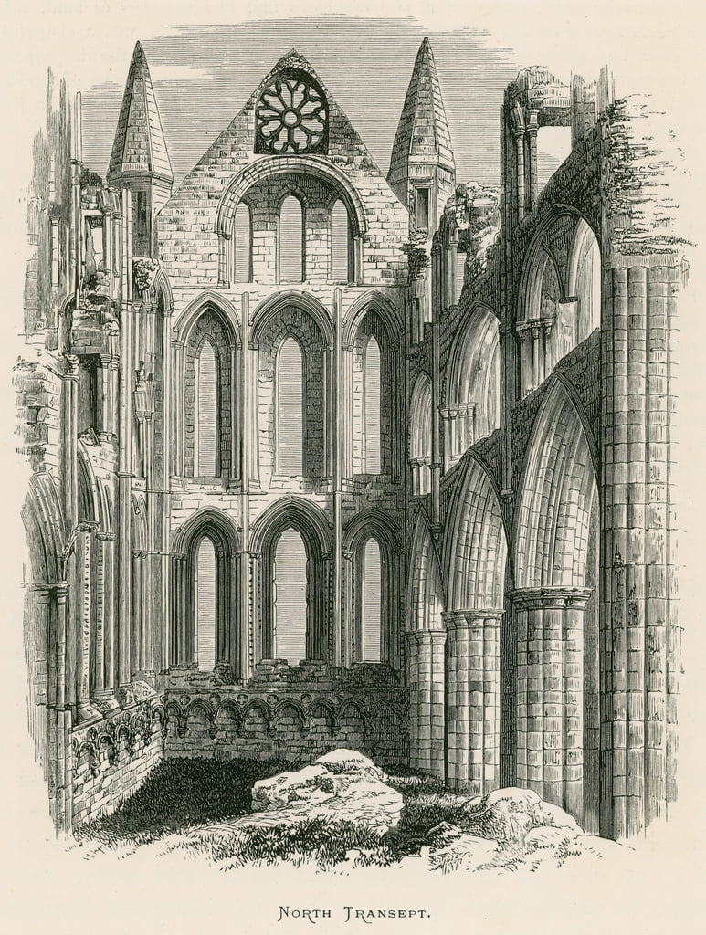 Whitby Abtei, Nord Transept von Alexander Francis Lydon