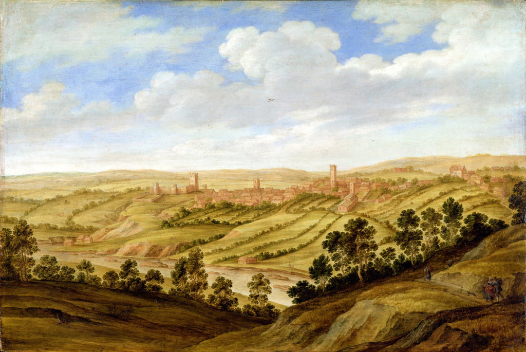 Richmond Castle, Yorkshire, c.1640-41 von Alexander Keirincx