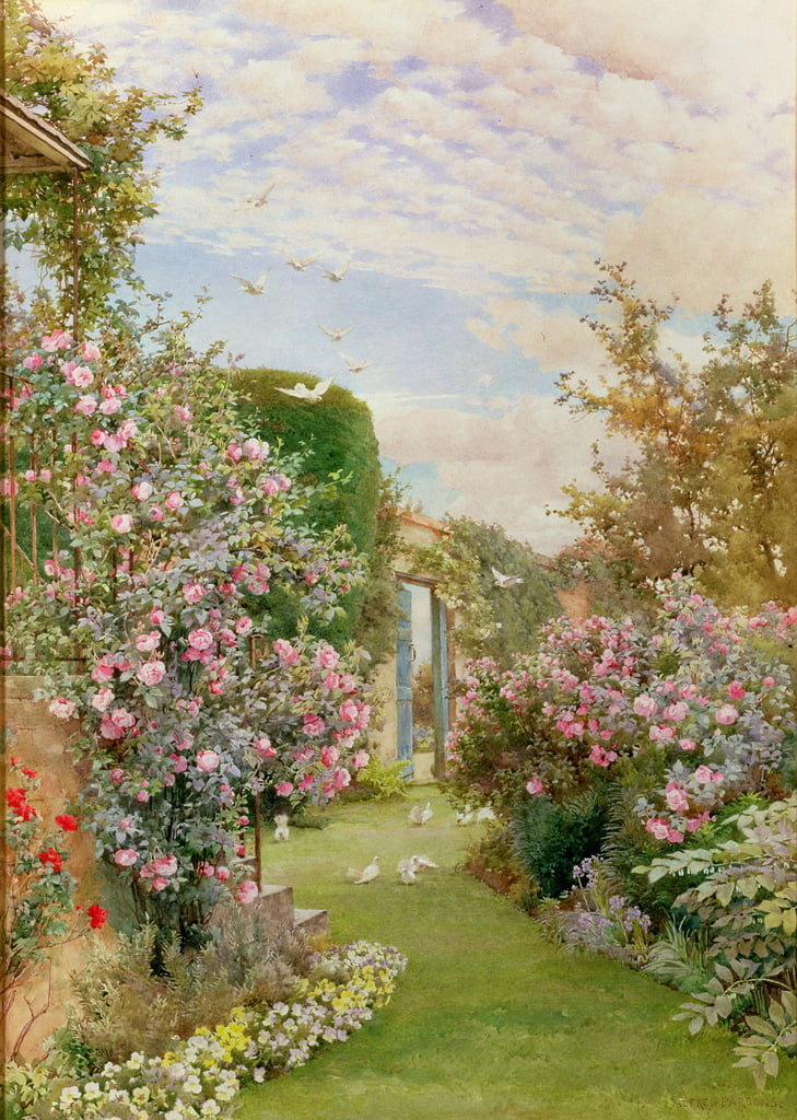 China Roses, Broadway von Alfred Parsons