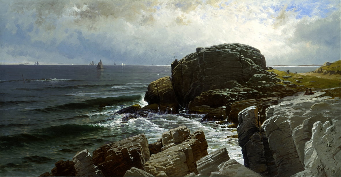 Castle Rock, Marmorkopf von Alfred Thompson Bricher