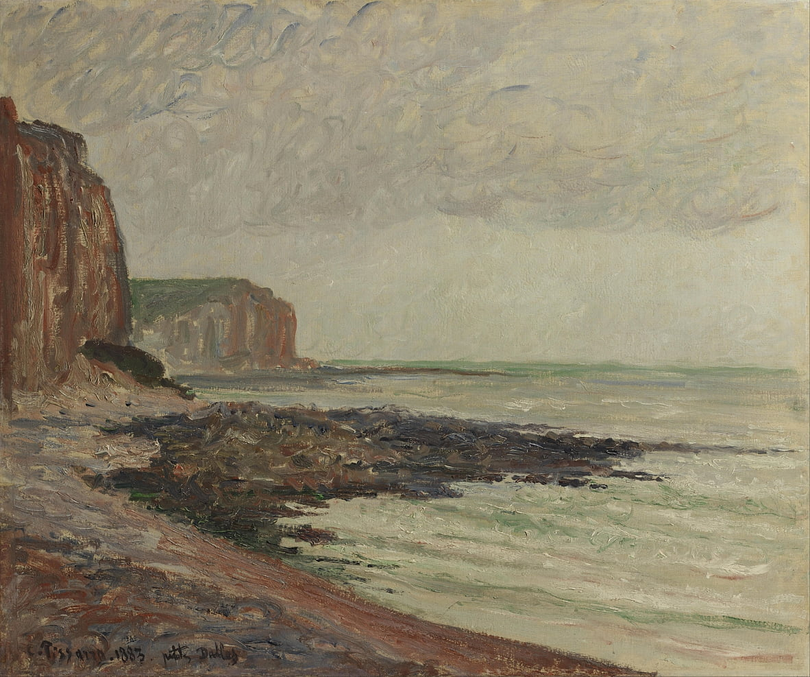 Cliffs at Petites Dalles von Camille Jacob Pissarro