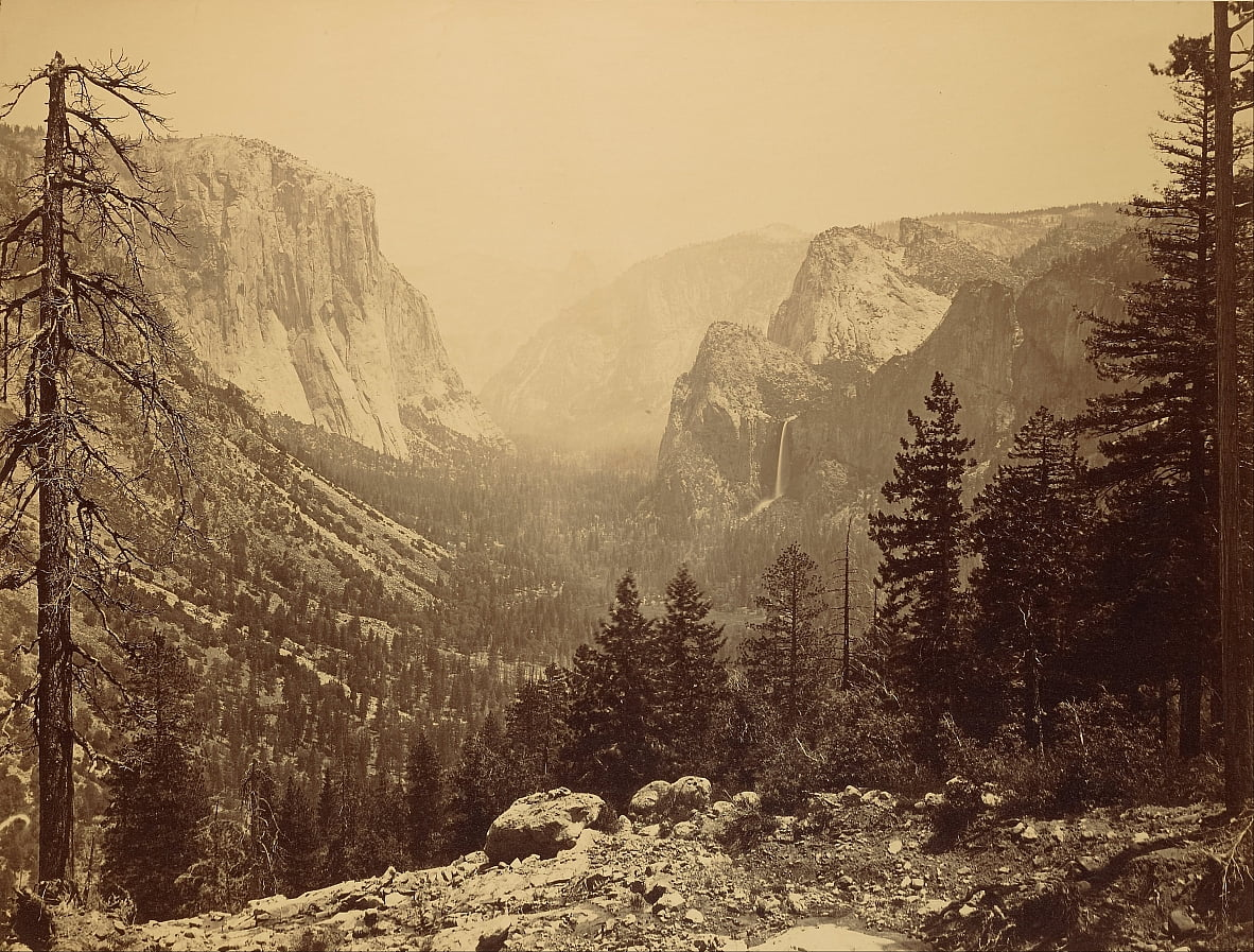 Yosemite Valley aus Inspiration Point von Carleton E. Watkins