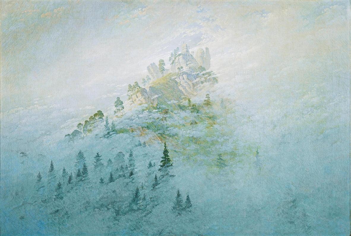 Mattina Nebbia In Montagna Di Caspar David Friedrich