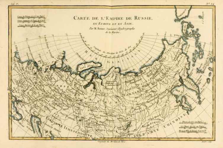 Karte Europa Asien.Karte Des Russischen Reiches In Europa Und Asien Von Atlas De Toutes Les Parteien Connues Du Globe Terrestre Von Guillaume Raynal 1713 1796