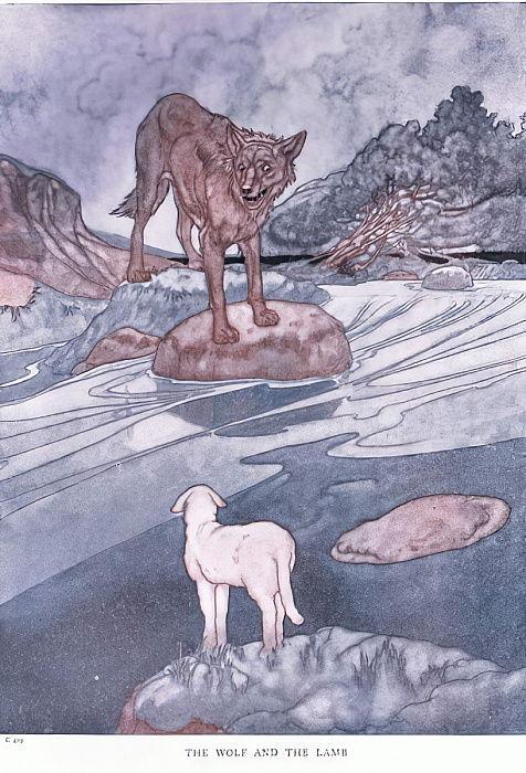 Der Wolf und das Lamm, 1930er Jahre von Charles Robinson