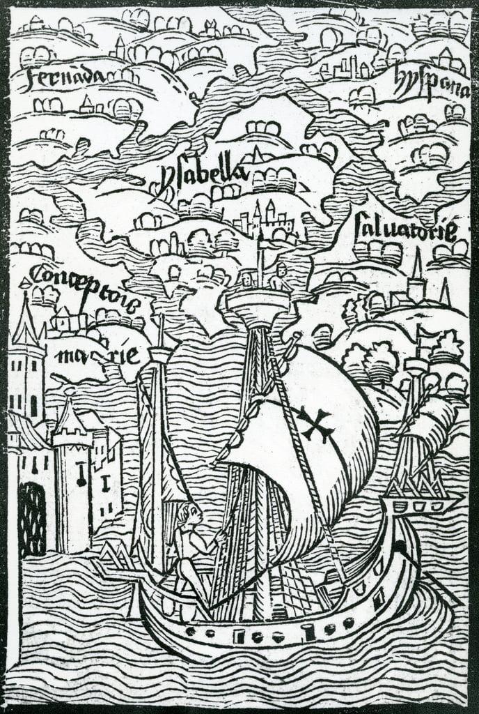 Karte, Inseln Salvador, Espanola, Fernanda, Isabella und ... on