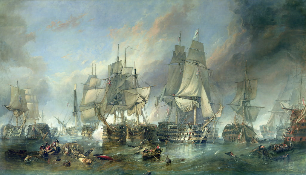 Die Schlacht von Trafalgar, 1805 von William Clarkson Stanfield