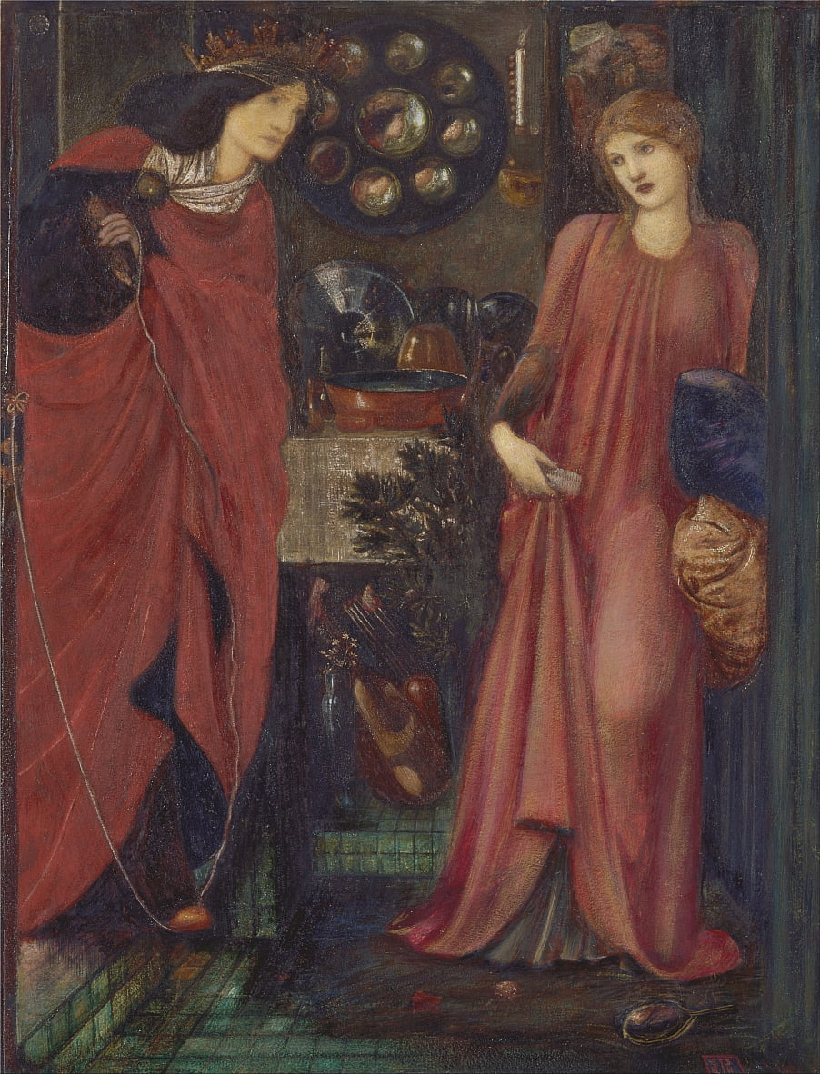 Fair Rosamund und Königin Eleanor von Edward Burne Jones