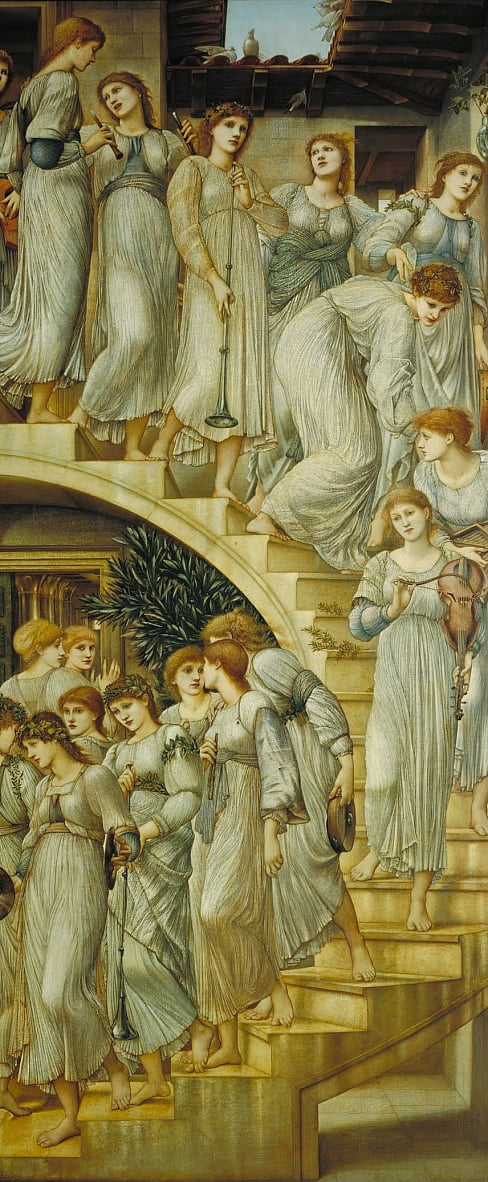 Die Golden Stairs von Edward Burne Jones