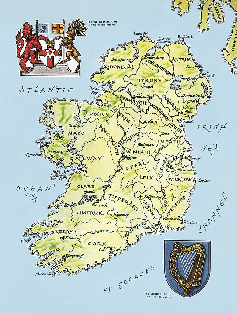 Irland Karte.Karte Von Irland Von English School