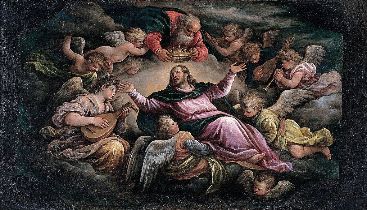 Christus in der Glorie von Francesco Bassano