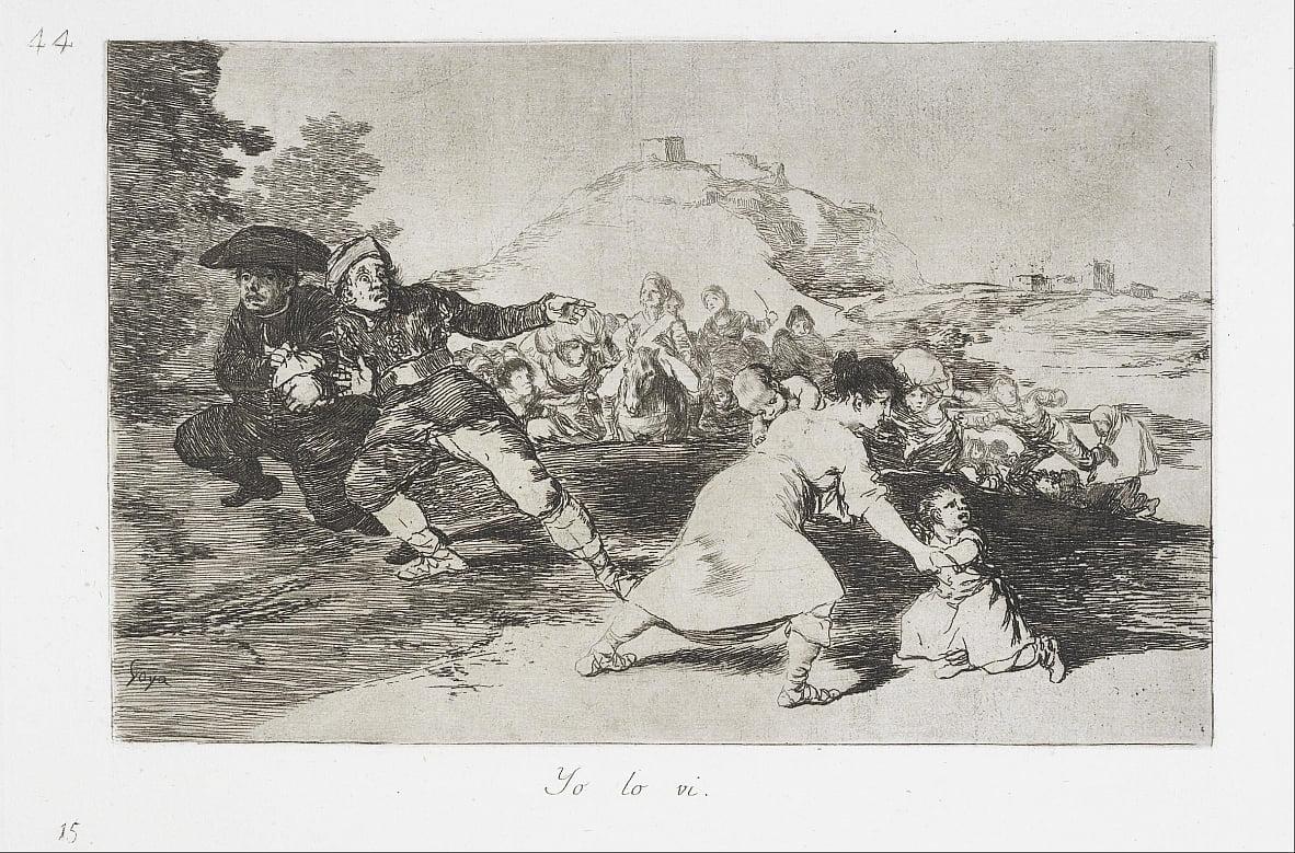 Ich habe es gesehen (Yo lo vi) aus der Serie The Disasters of War (Los Desastres de la Guerra) von Francisco de Goya