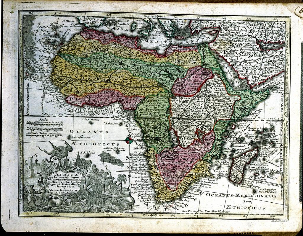 Karte Augsburg.Karte Von Afrika Von Atlas Minor Veroffentlicht In Augsburg Erste Halfte Des Achtzehnten Jahrhunderts Von Georg Matthaus Seutter