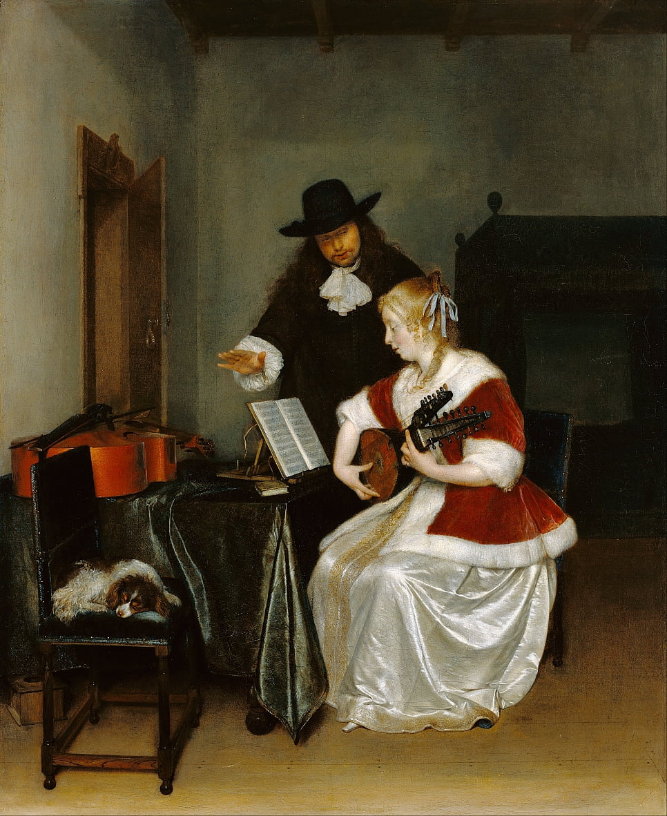 Die Musik Lektion von Gerard ter Borch or Terborch