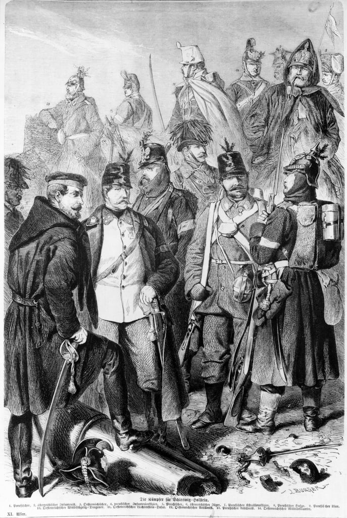 War Of Duchies Austrian And Prussian Soldiers And Offi 110809
