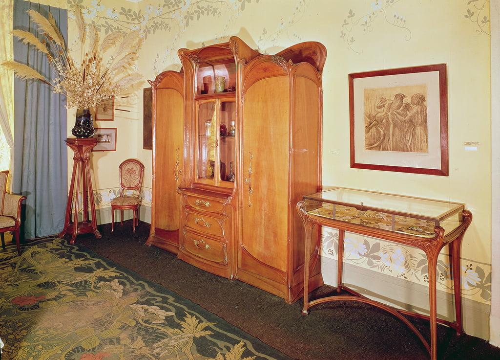 Jugendstil Schlafzimmer, c.1900 von Hector Guimard (#153357)