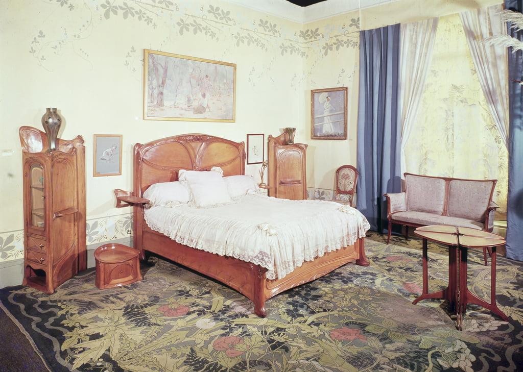 Jugendstil-Schlafzimmer, ca. 1900 von Hector Guimard