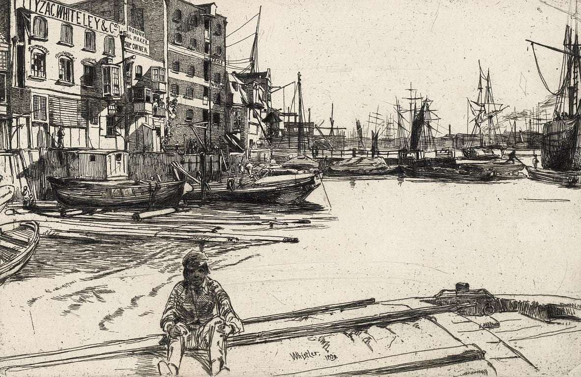 Adler Wharf von James Abbott McNeill Whistler