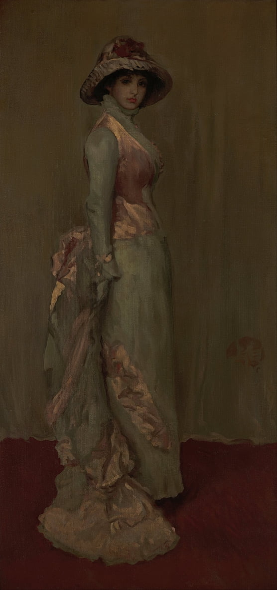 Harmonie in Rosa und Gray- Lady Meux von James Abbott McNeill Whistler