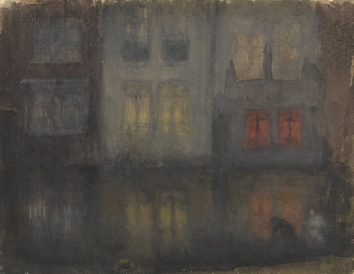 Nocturne-Black und Red-Back Canal, Holland von James Abbott McNeill Whistler