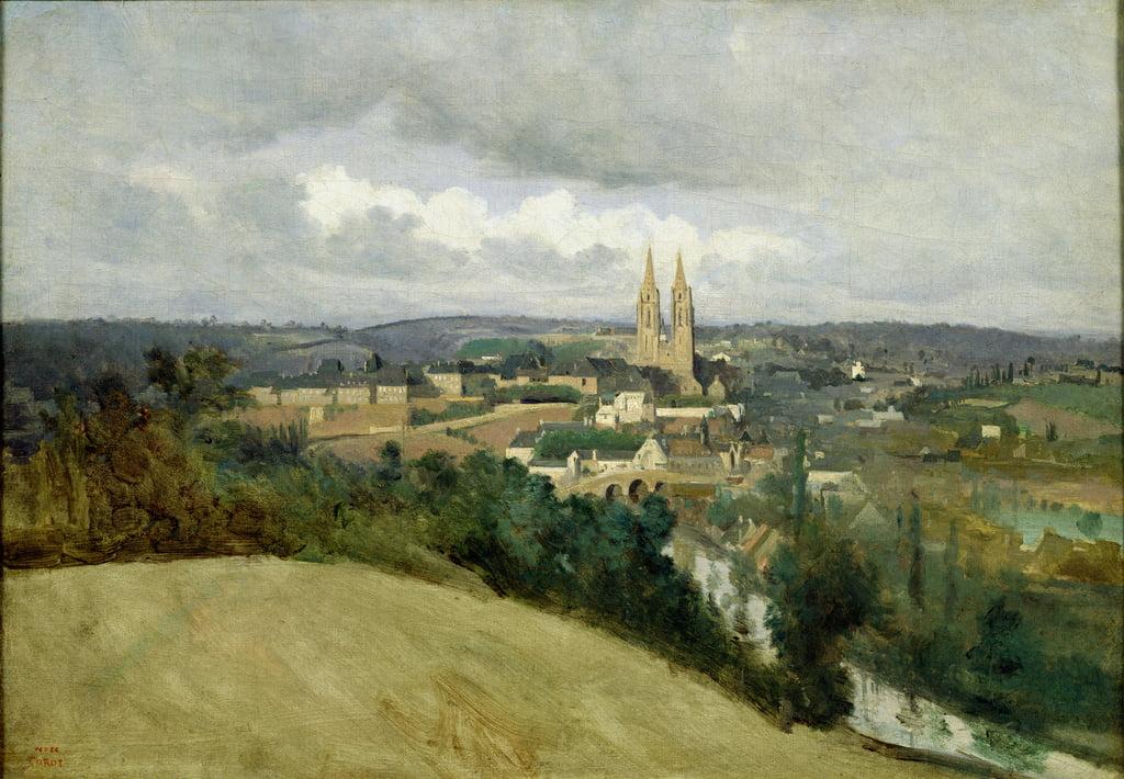 Veduta Generale Della Città Di Saint Lo 1833 Cir