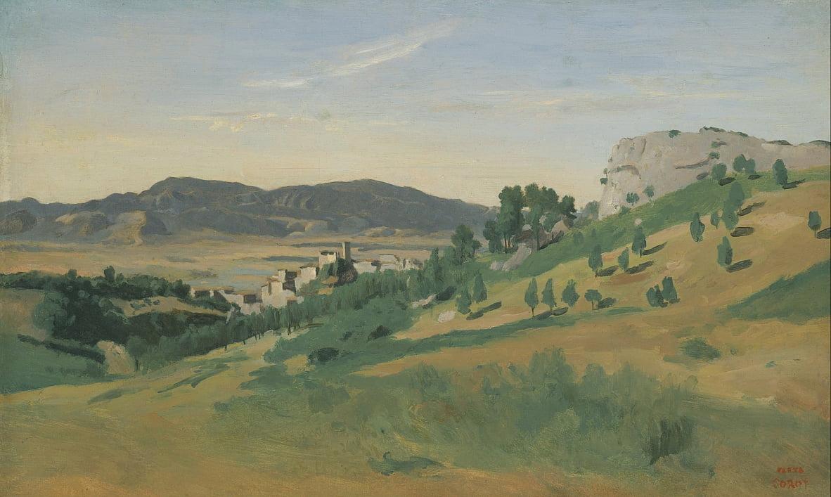 Vista Di Olevano Di Jean Baptiste Camille Corot