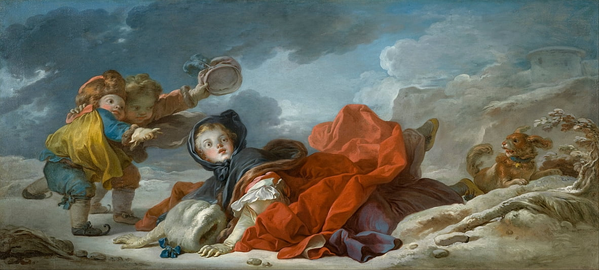 Winter von Jean Honore Fragonard