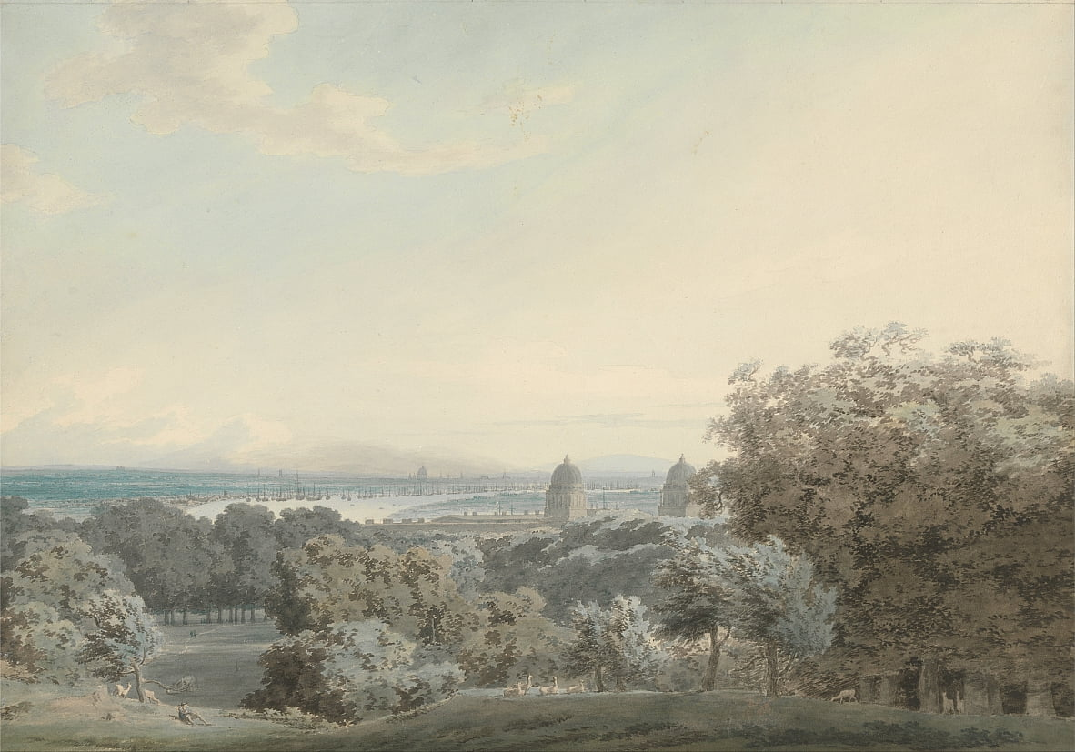 London von Greenwich Hill von John Robert Cozens