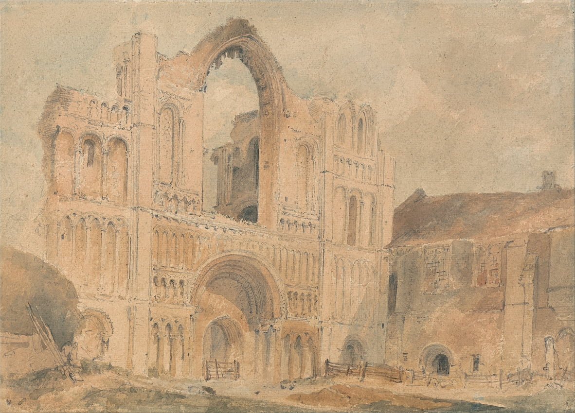 Castle Acre Priory, Norfolk, Westfront von John Sell Cotman