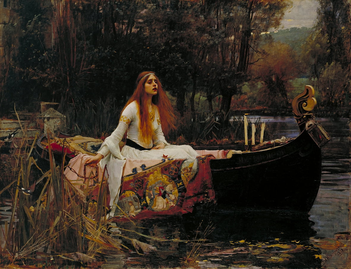 Die Dame von Shalott von John William Waterhouse