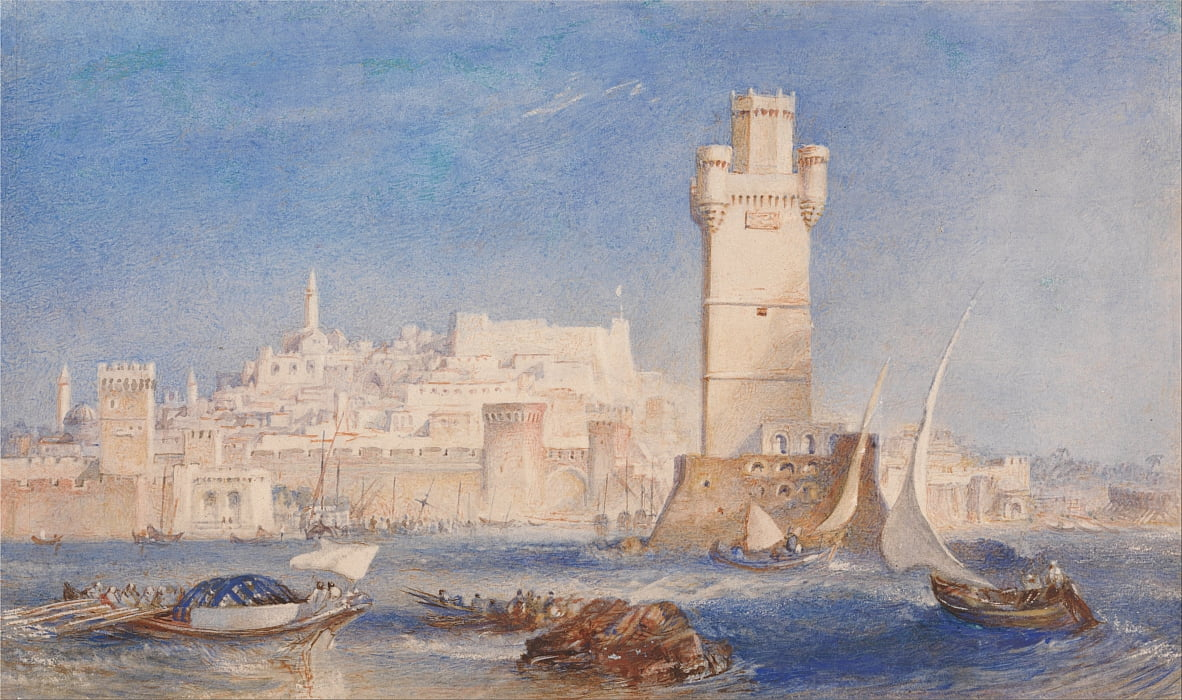 Rhodos von Joseph Mallord William Turner