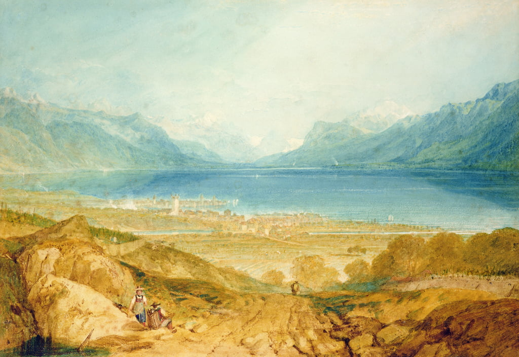 Vevey, Genfersee von Joseph Mallord William Turner