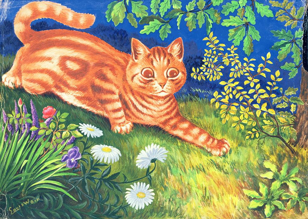 9257fae0b37 Cat Stalking by Louis Wain as art print