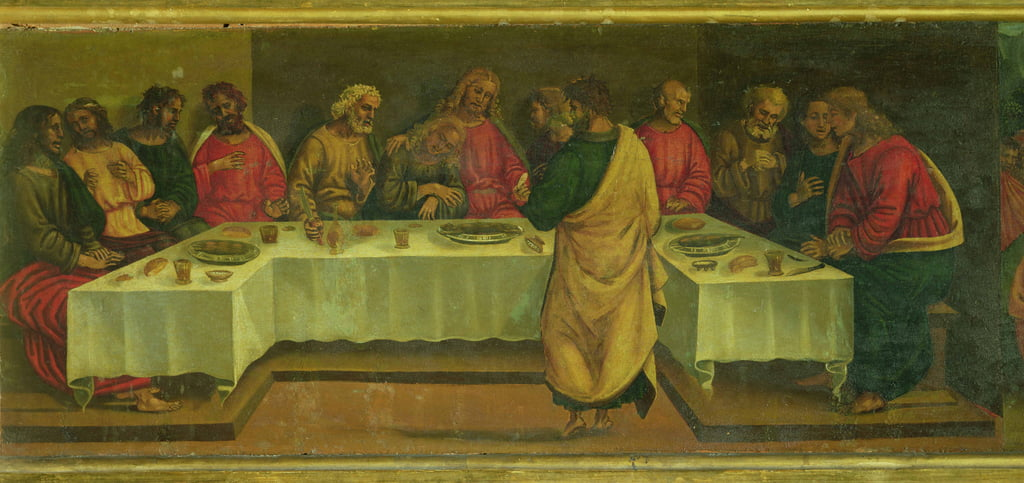 Predella Panel: Letztes Abendmahl von Luca Signorelli