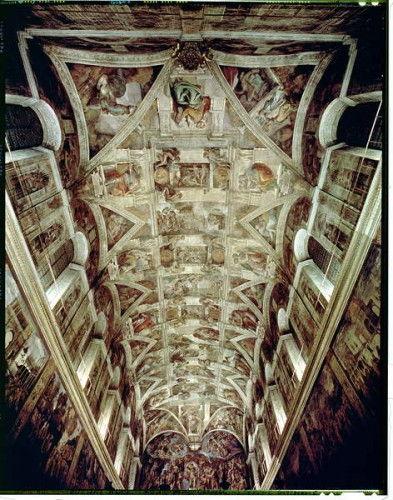 Sixtinische Kapelle 1508 12 Von Michelangelo Buonarroti
