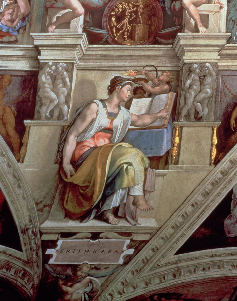 Sistine Kapelle Decke Erythraean Sibyl 1510 Nachrest 189935