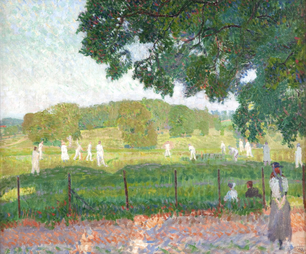 Das Cricket-Match, 1909 von Spencer Frederick Gore