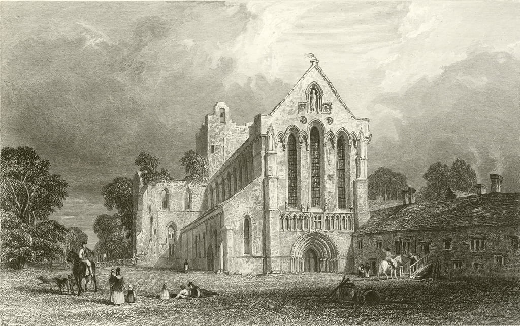 Llanercost Priory, Cumberland von Thomas Allom