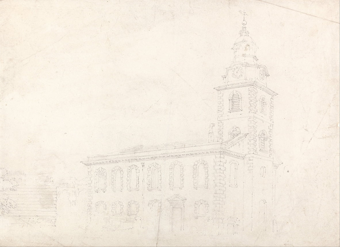 Christ Church, Blackfriars, London von Thomas Girtin