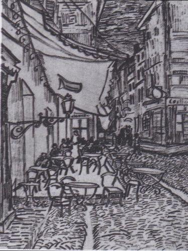 Terrasse Des Cafes An Der Place Du Forum In Arles Am Abend Von