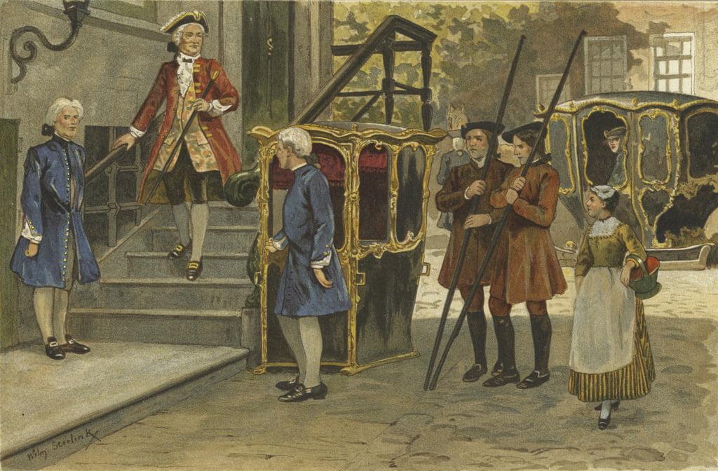Sedan Stuhl Und Schlitten Niederlande Mitte 18 Jahrhundert Von