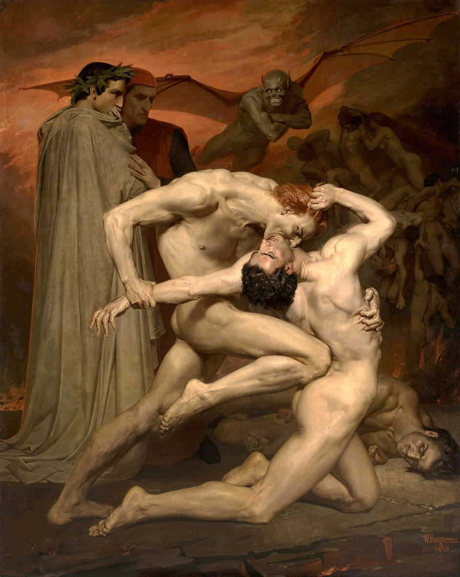 Dante und Virgile von William Adolphe Bouguereau