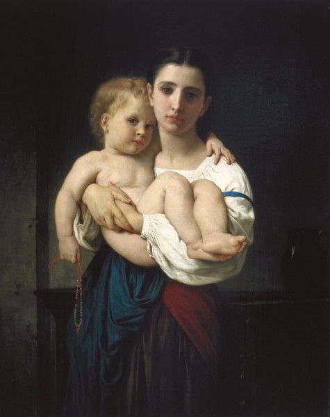 Die ältere Schwester, Reduktion (La soeur Ainée, Reduktion) von William Adolphe Bouguereau