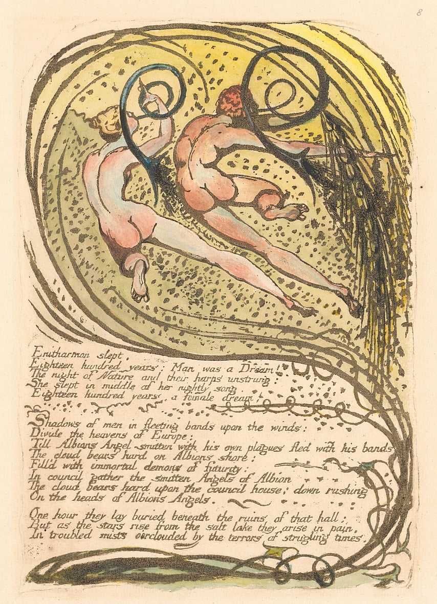 Europa. Eine Prophezeiung, Tafel 10, Enitharmon schlief. . . . (Bentley 12) von William Blake