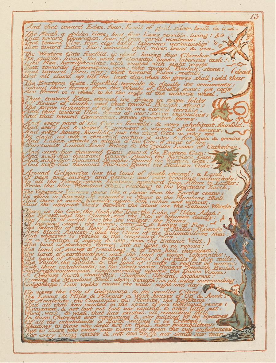 Jerusalem, Tafel 13, von William Blake