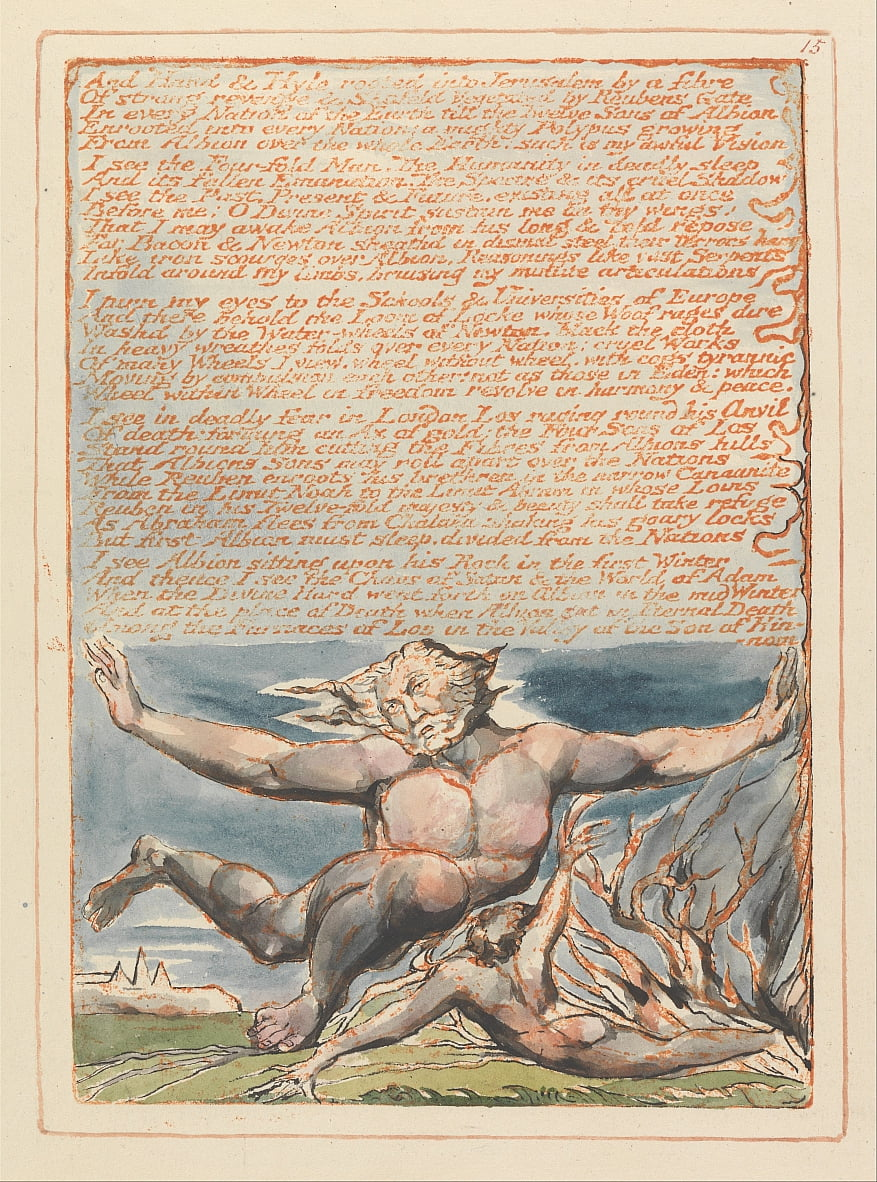 Jerusalem, Plate 15, And Hand und Hyle.... von William Blake