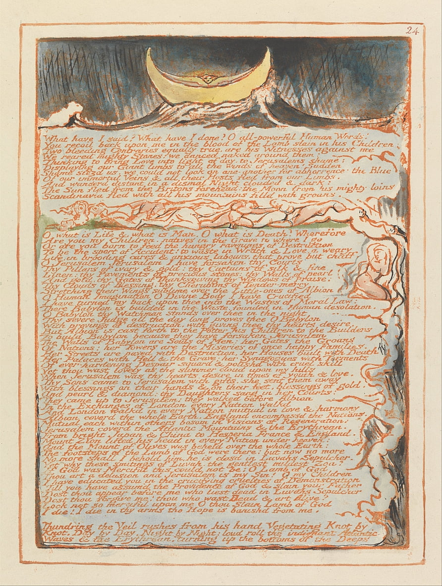 Jerusalem, Tafel 24, von William Blake