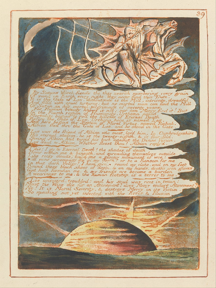 Jerusalem, Tafel 39, von William Blake