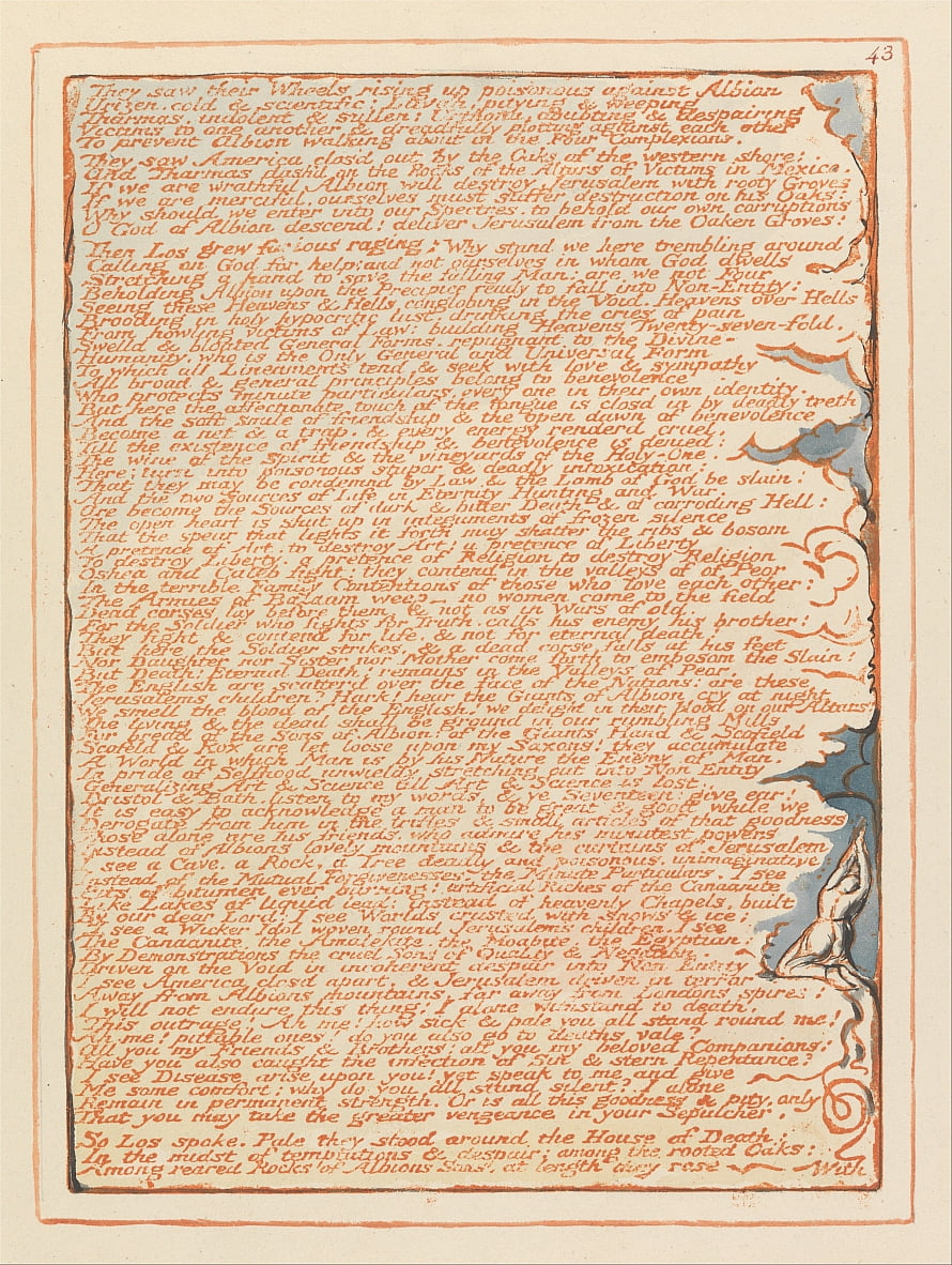 Jerusalem, Platte 43, von William Blake