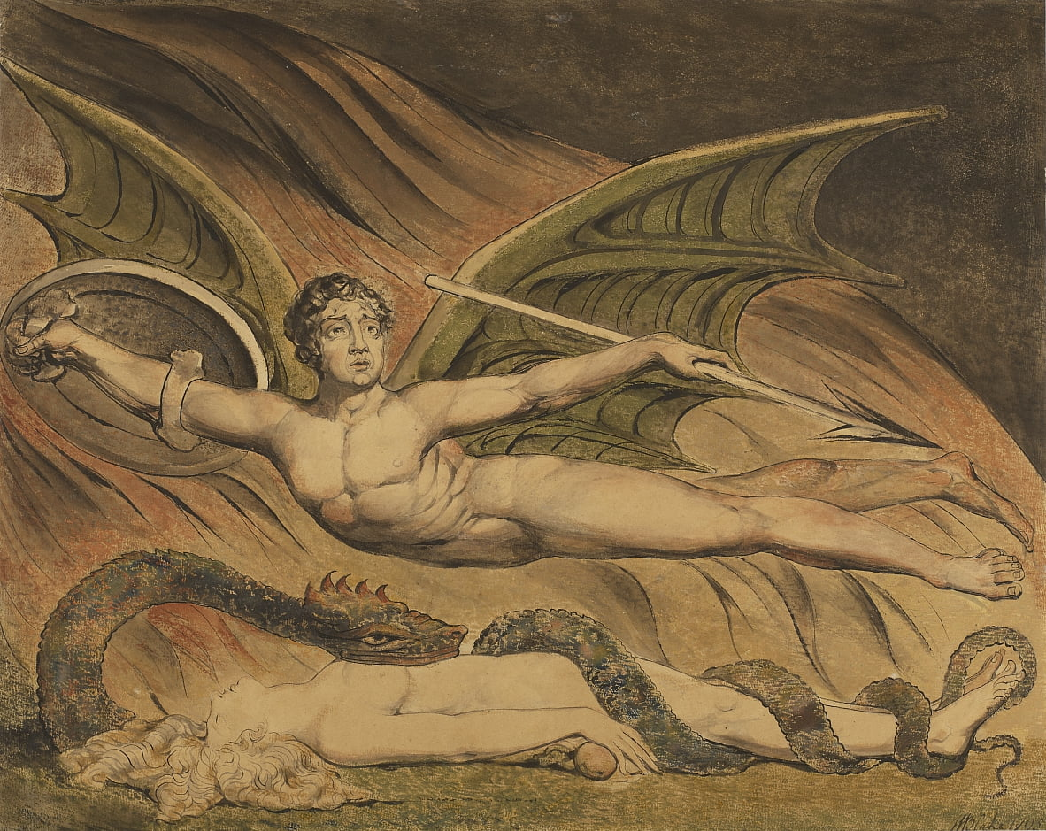 Satan Exulting über Eve von William Blake
